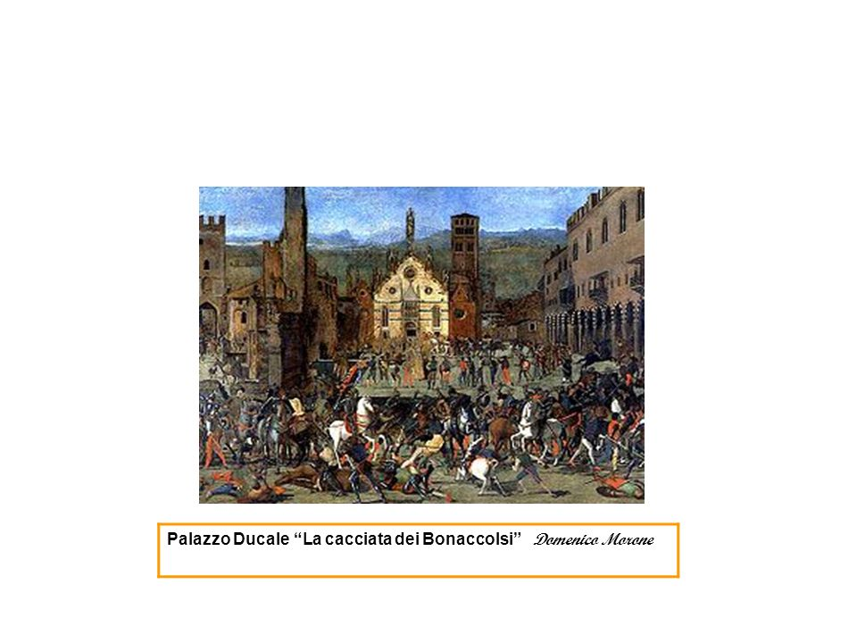 Palazzo Ducale La cacciata dei Bonaccolsi Domenico Morone