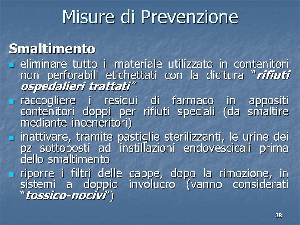 Misure di Prevenzione Smaltimento