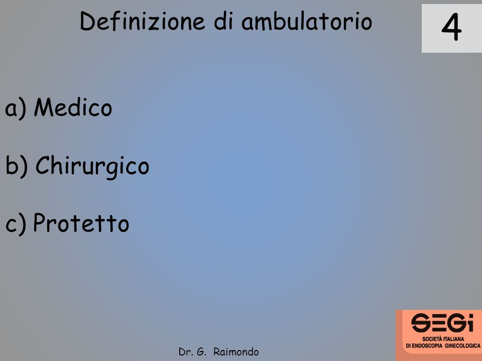 Definizione di ambulatorio