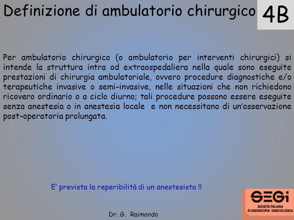 4B Definizione di ambulatorio chirurgico