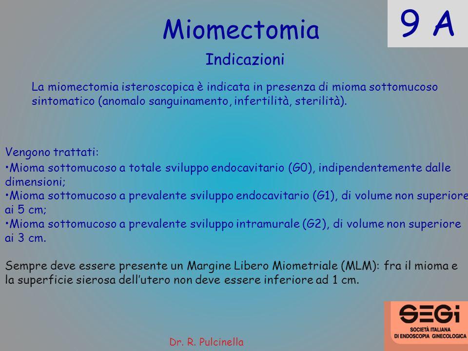 9 A Miomectomia Indicazioni
