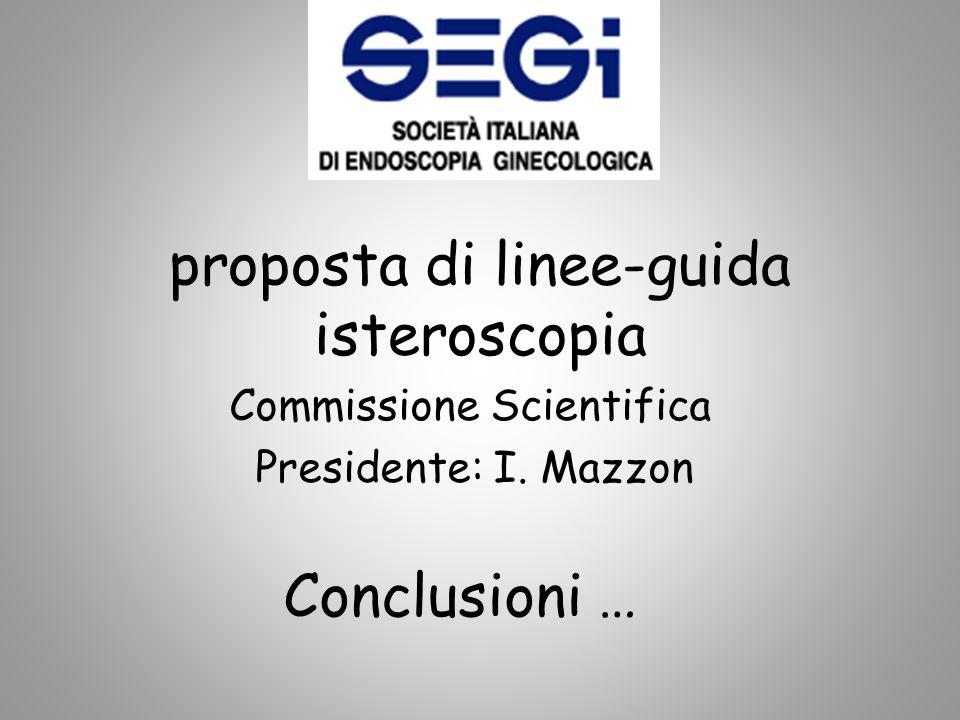 proposta di linee-guida isteroscopia
