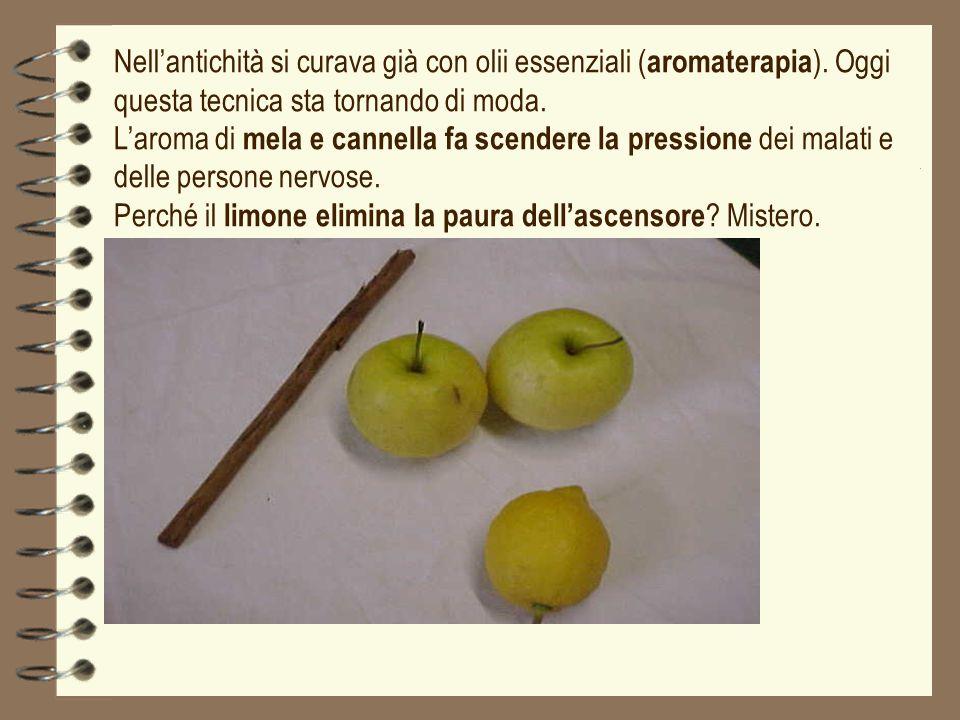 Nell'antichità si curava già con olii essenziali (aromaterapia)