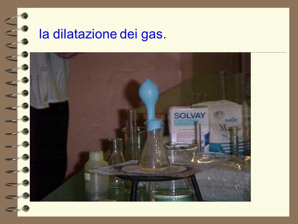 la dilatazione dei gas.