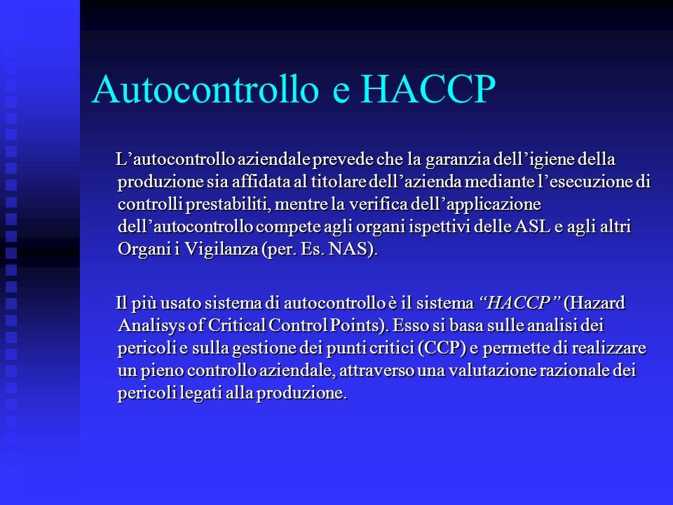 Autocontrollo e HACCP