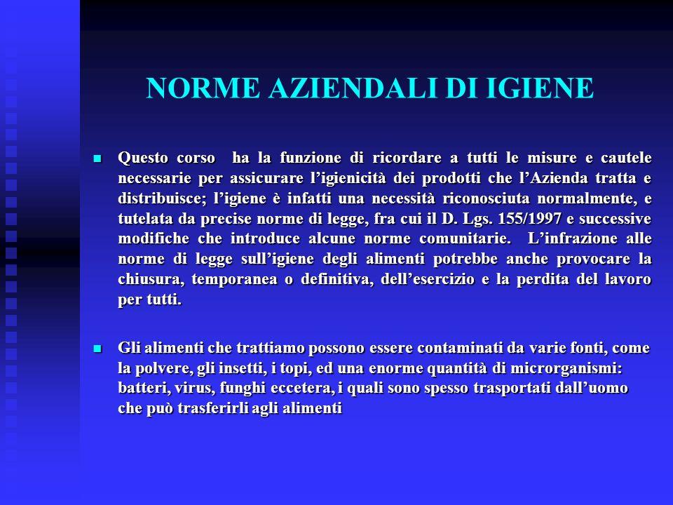 NORME AZIENDALI DI IGIENE