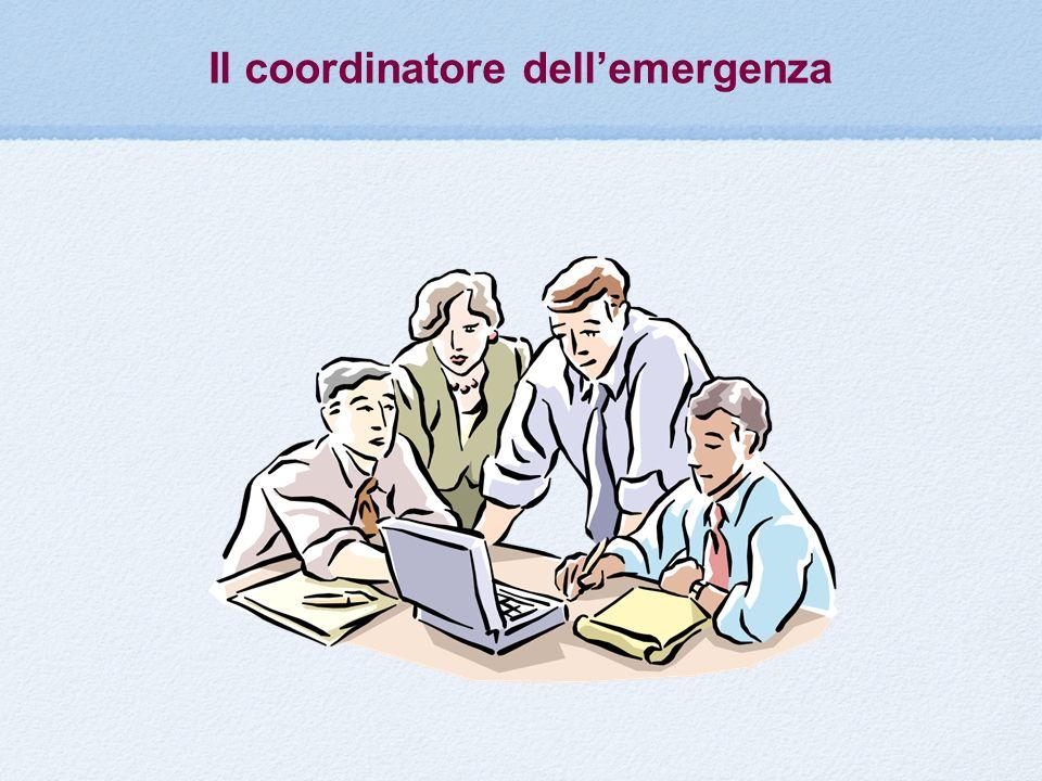 Il coordinatore dell'emergenza