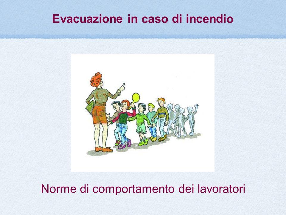 Evacuazione in caso di incendio