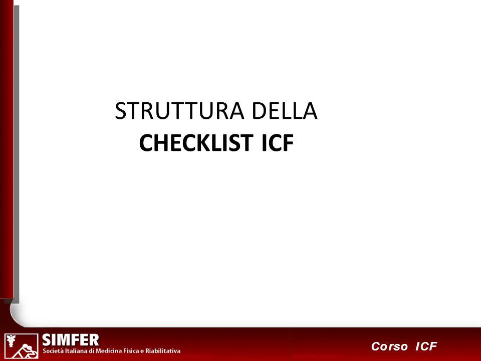 STRUTTURA DELLA CHECKLIST ICF