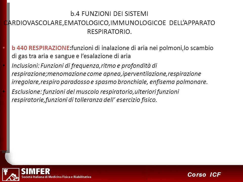 b.4 FUNZIONI DEI SISTEMI CARDIOVASCOLARE,EMATOLOGICO,IMMUNOLOGICOE DELL'APPARATO RESPIRATORIO.