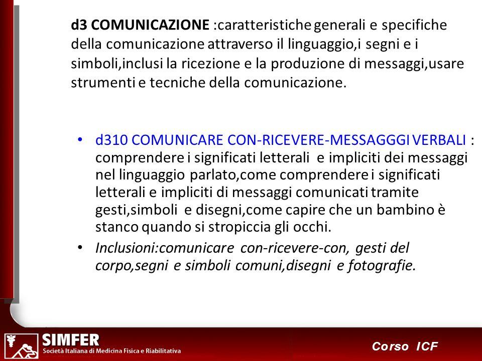 d3 COMUNICAZIONE :caratteristiche generali e specifiche della comunicazione attraverso il linguaggio,i segni e i simboli,inclusi la ricezione e la produzione di messaggi,usare strumenti e tecniche della comunicazione.