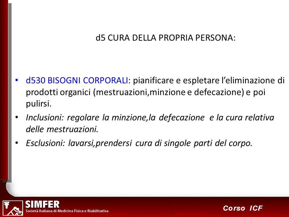 d5 CURA DELLA PROPRIA PERSONA: