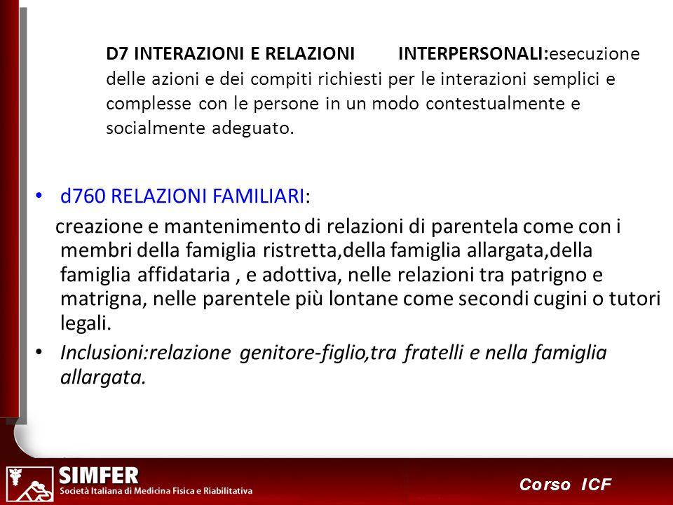 d760 RELAZIONI FAMILIARI: