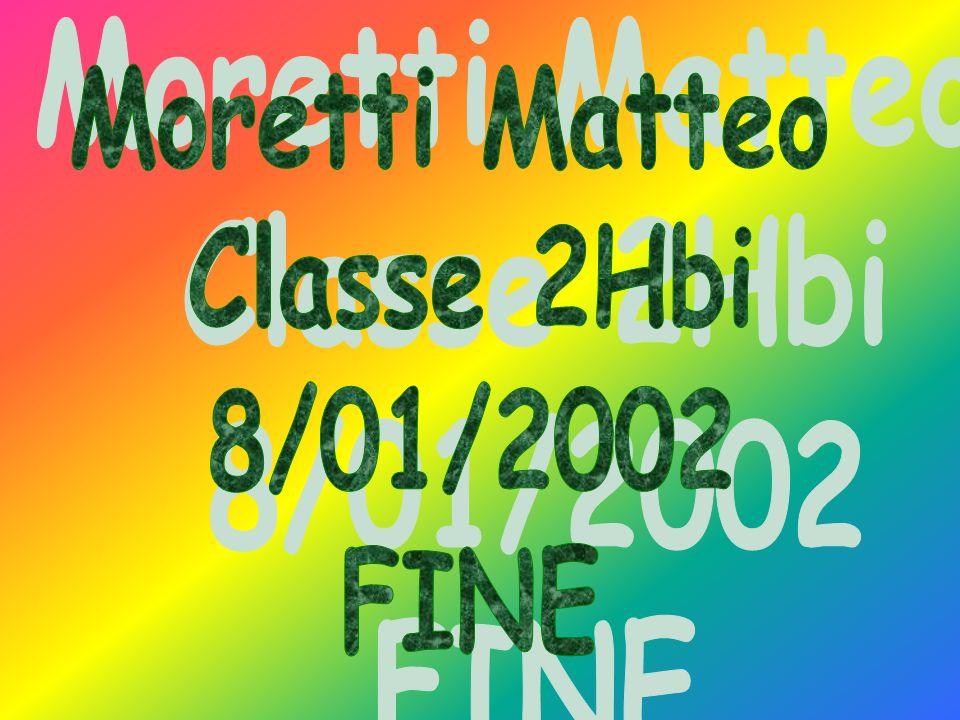 Moretti Matteo Classe 2Hbi 8/01/2002 FINE