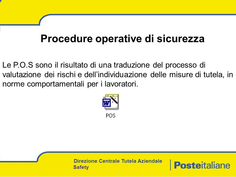 Procedure operative di sicurezza
