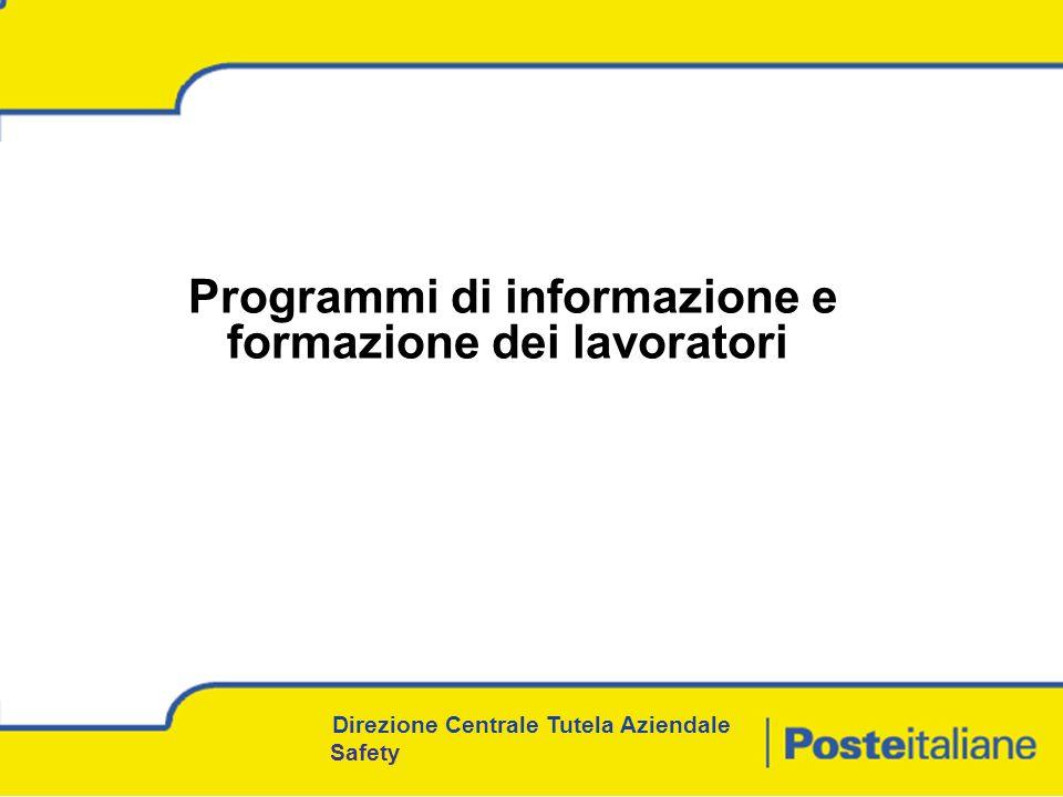 Programmi di informazione e formazione dei lavoratori