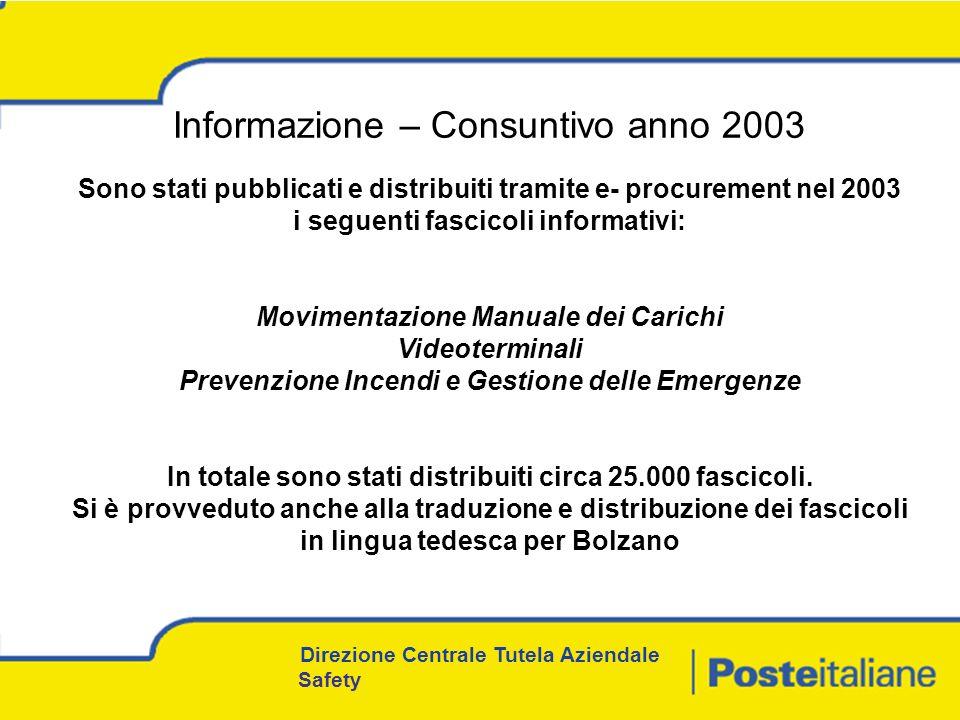 Informazione – Consuntivo anno 2003