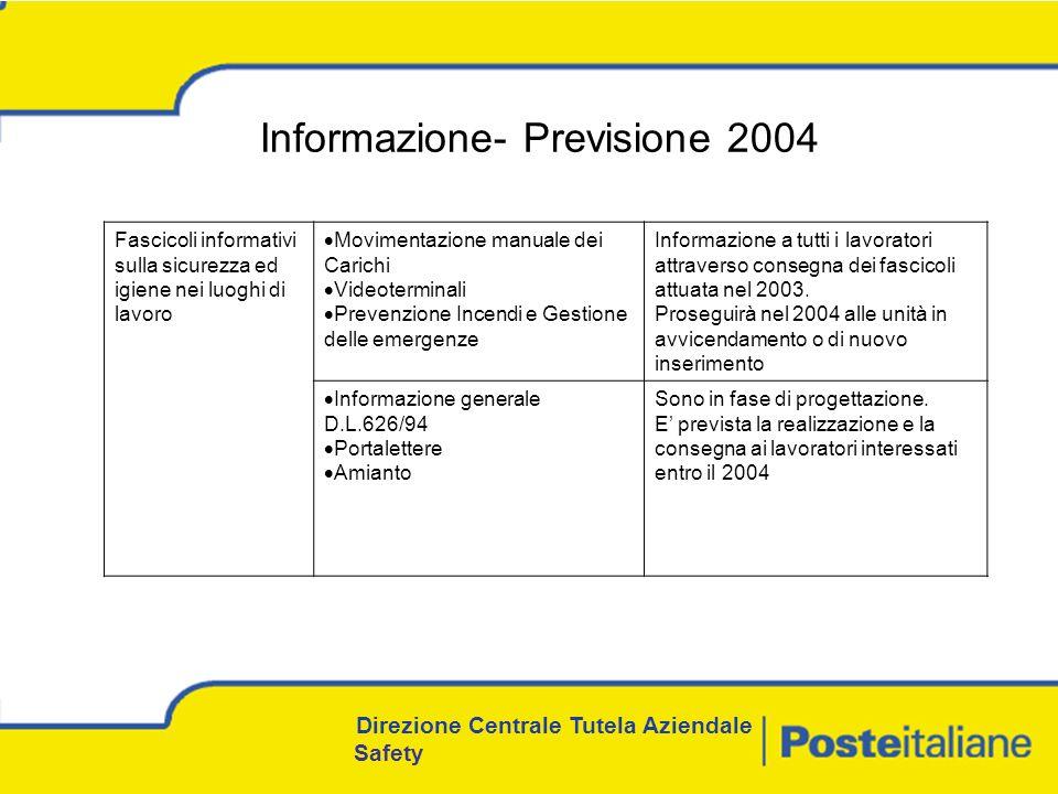 Informazione- Previsione 2004