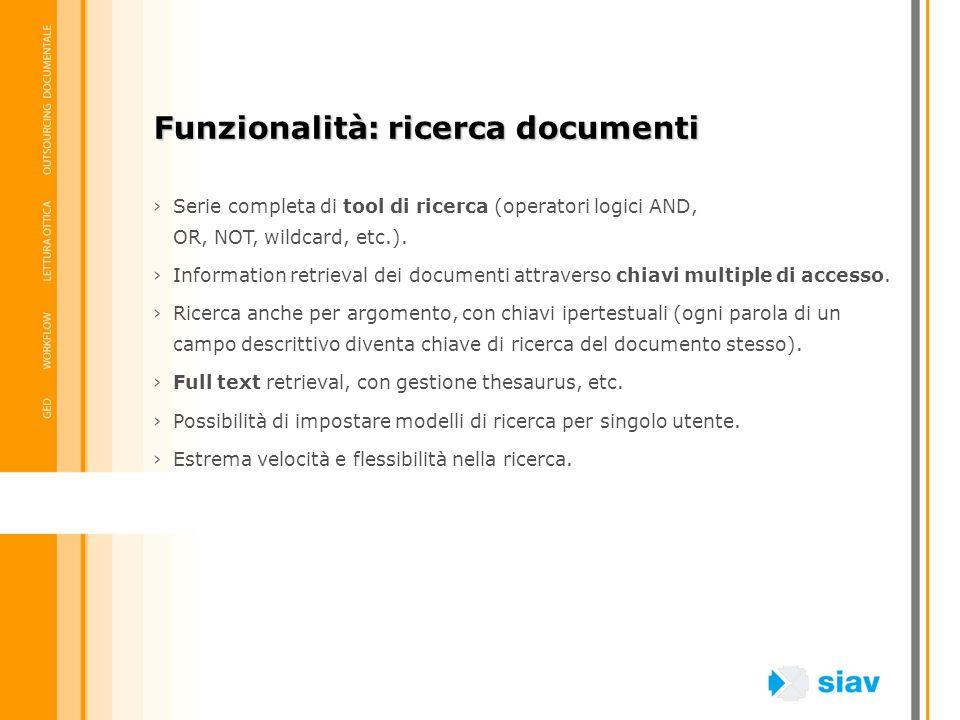 Funzionalità: ricerca documenti