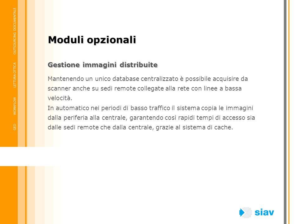 Moduli opzionali Gestione immagini distribuite