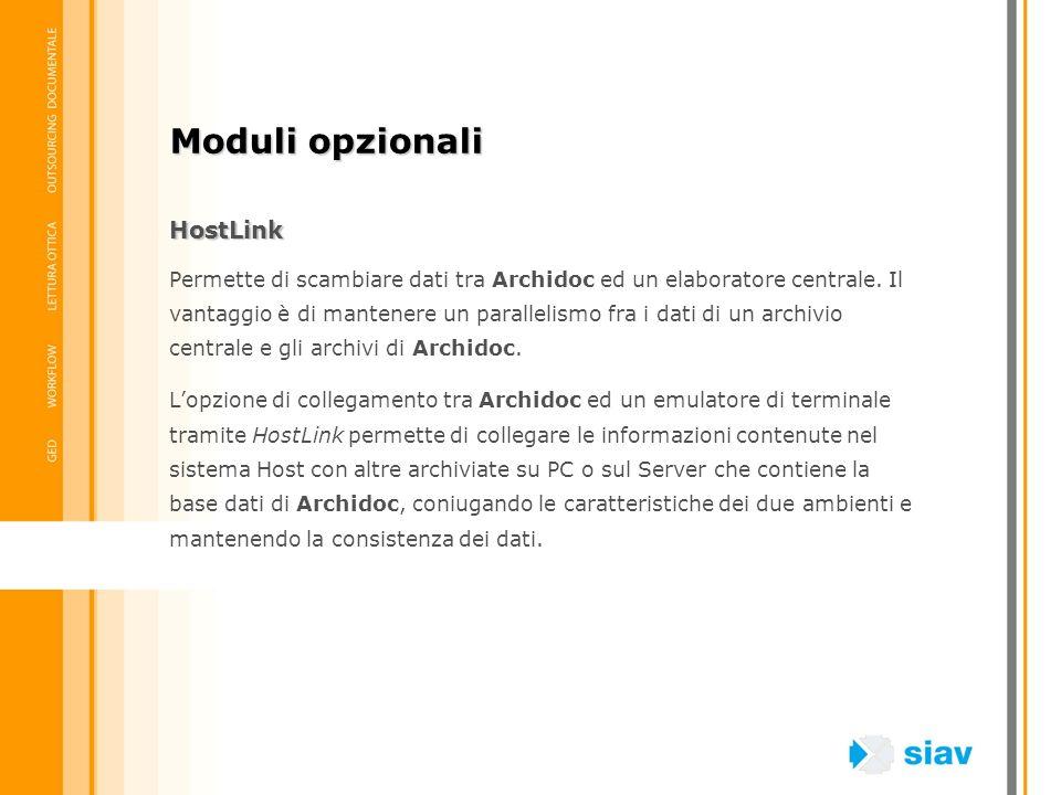 Moduli opzionali HostLink