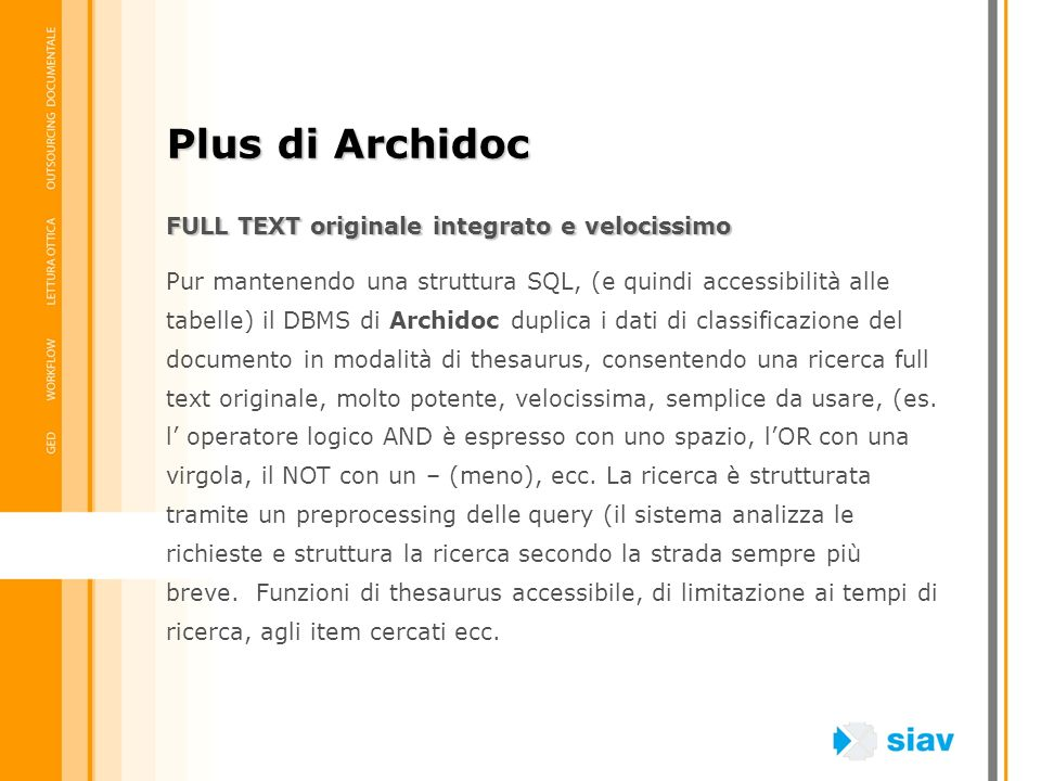 Plus di Archidoc FULL TEXT originale integrato e velocissimo