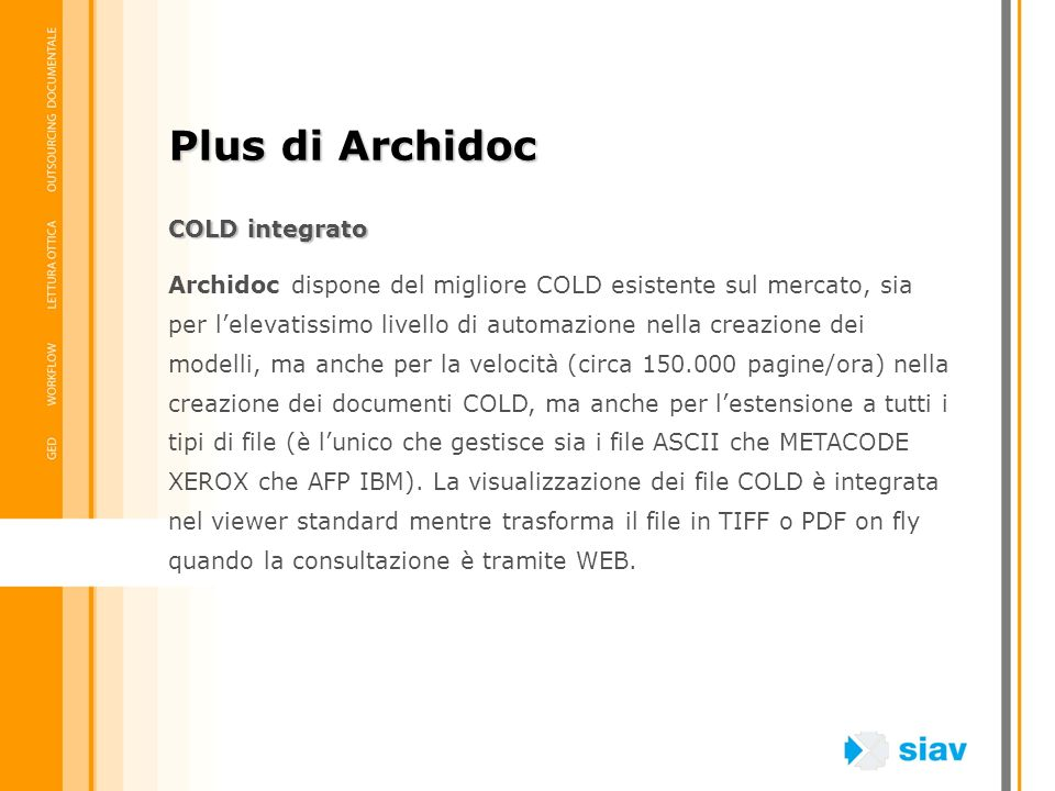 Plus di Archidoc COLD integrato