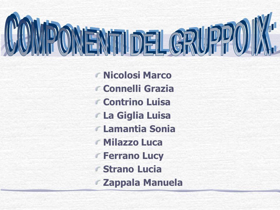 COMPONENTI DEL GRUPPO IX: