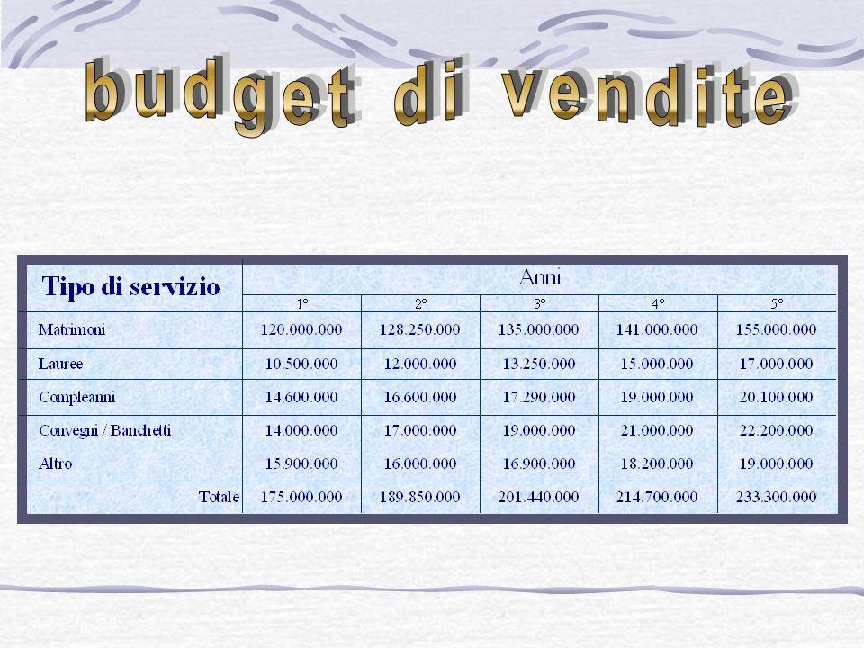 budget di vendite