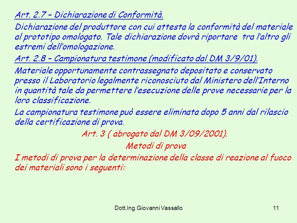 Art. 2.7 – Dichiarazione di Conformità.