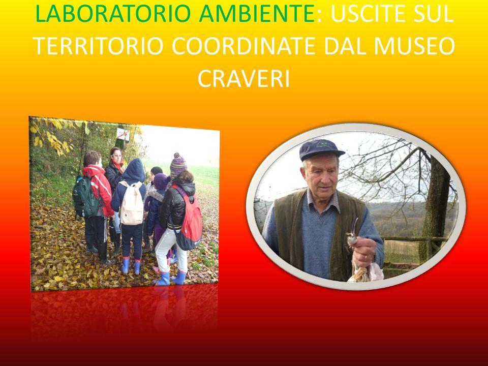 LABORATORIO AMBIENTE: USCITE SUL TERRITORIO COORDINATE DAL MUSEO CRAVERI