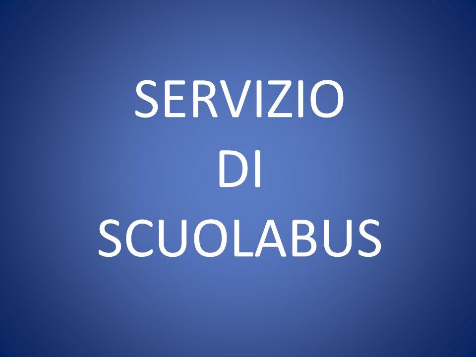 SERVIZIO DI SCUOLABUS