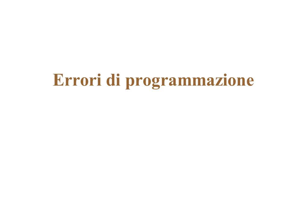 Errori di programmazione