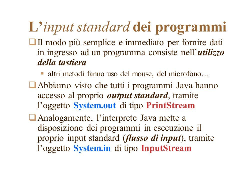 L'input standard dei programmi