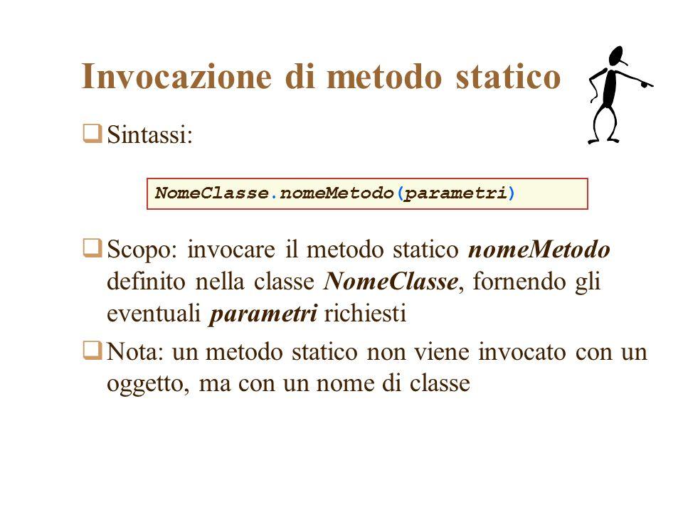 Invocazione di metodo statico