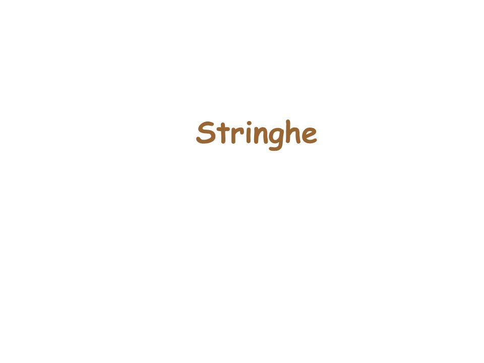 Stringhe Paragrafo6