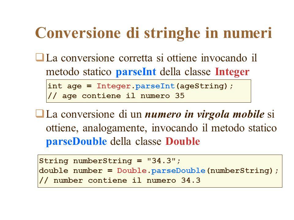 Conversione di stringhe in numeri