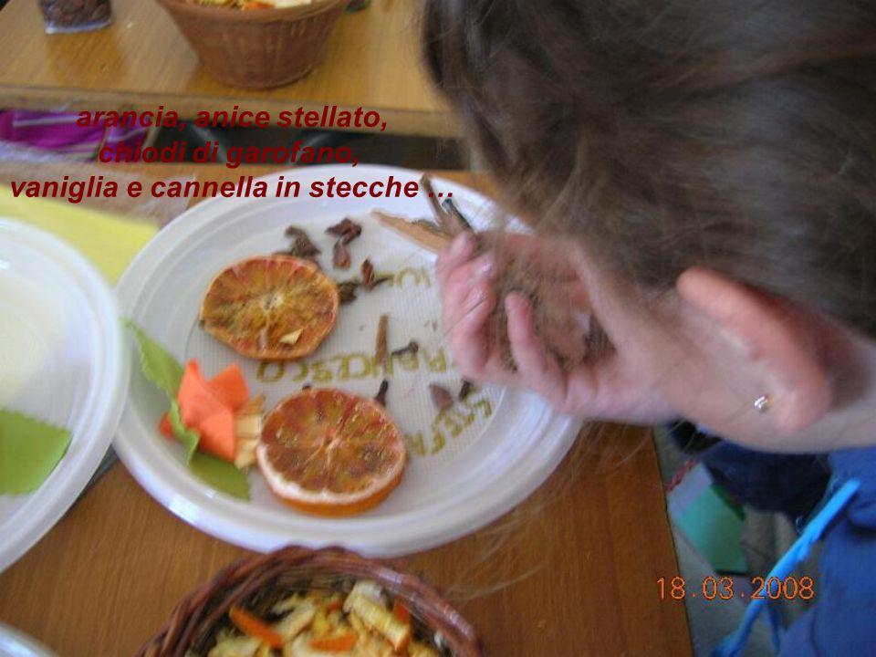 arancia, anice stellato, vaniglia e cannella in stecche …
