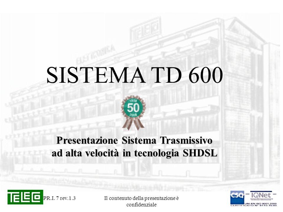 Presentazione Sistema Trasmissivo ad alta velocità in tecnologia SHDSL