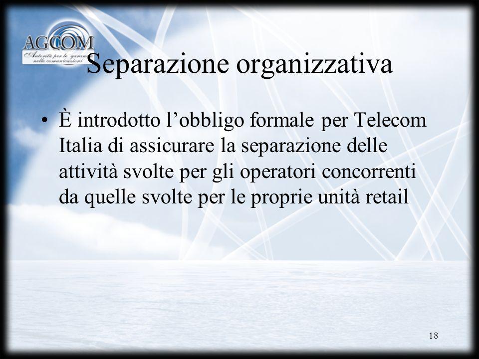 Separazione organizzativa