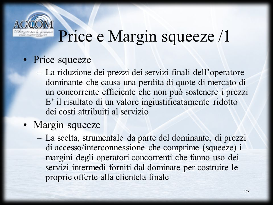Price e Margin squeeze /1