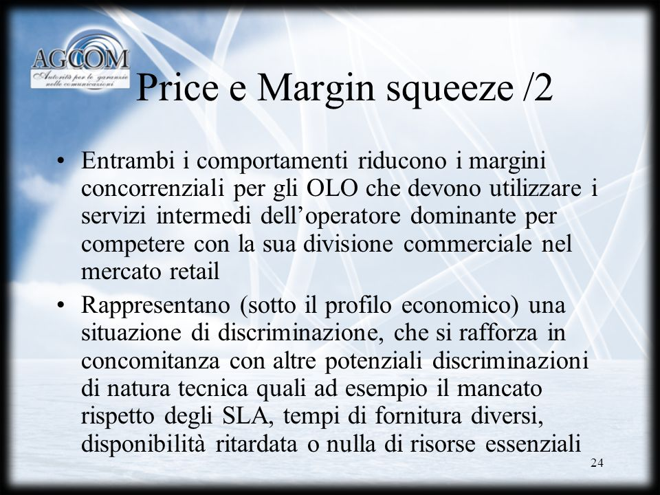 Price e Margin squeeze /2