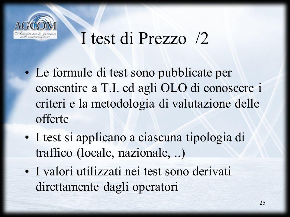 I test di Prezzo /2