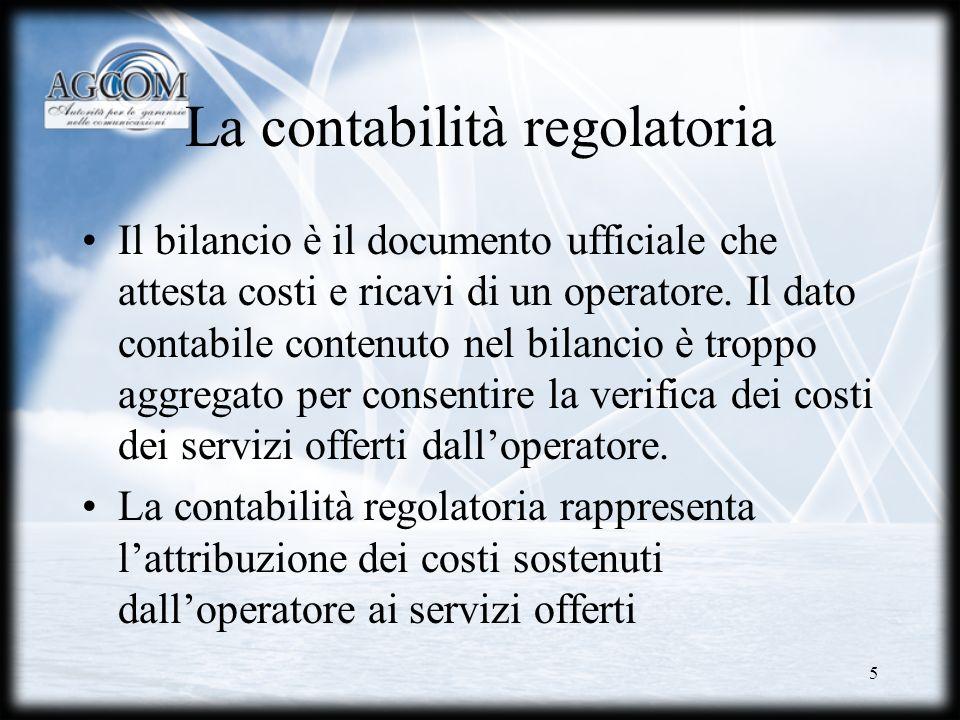 La contabilità regolatoria
