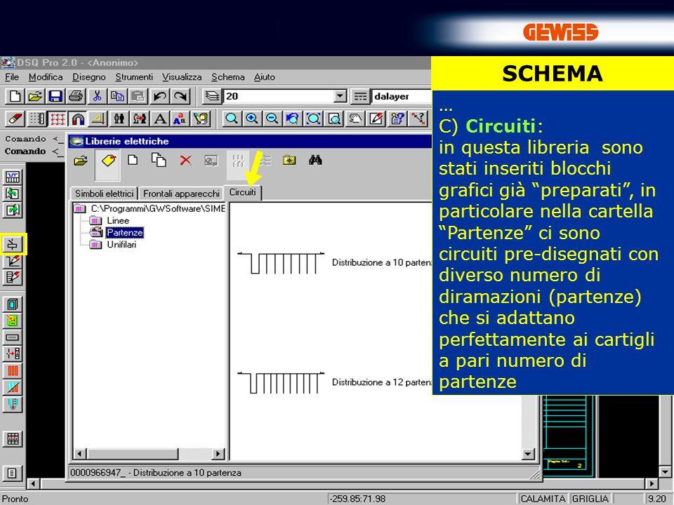 SCHEMA … C) Circuiti: