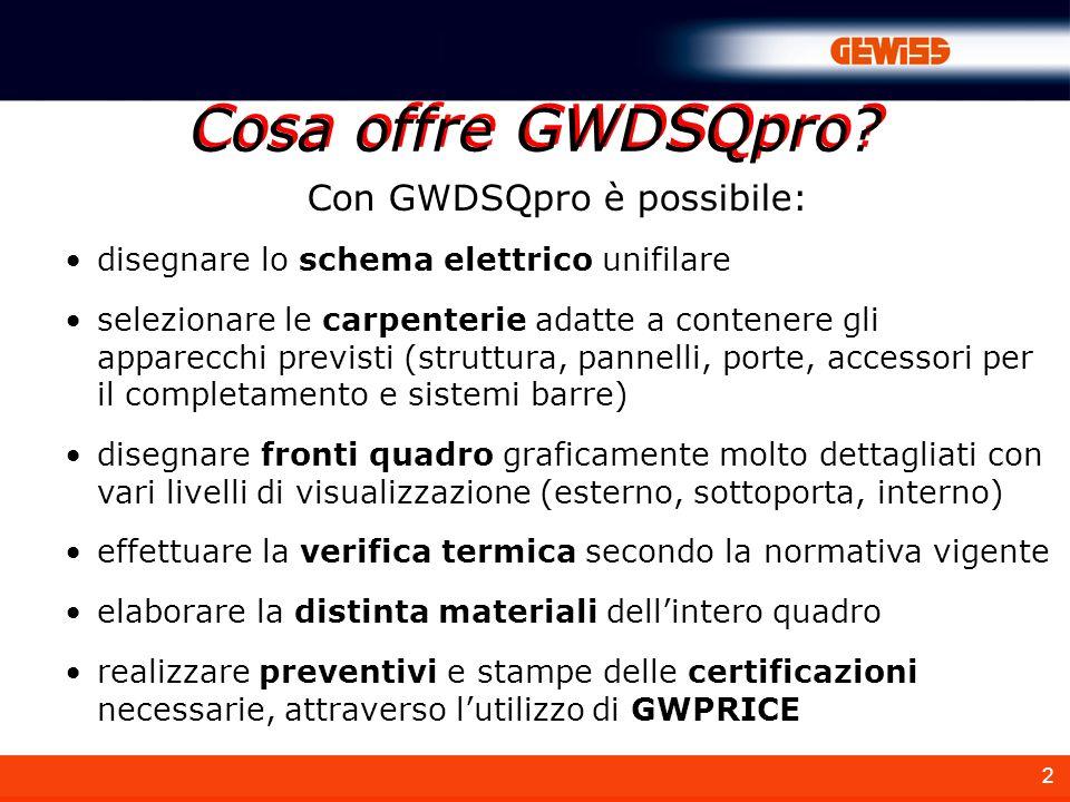 Con GWDSQpro è possibile: