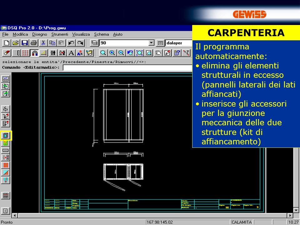 CARPENTERIA Il programma automaticamente: