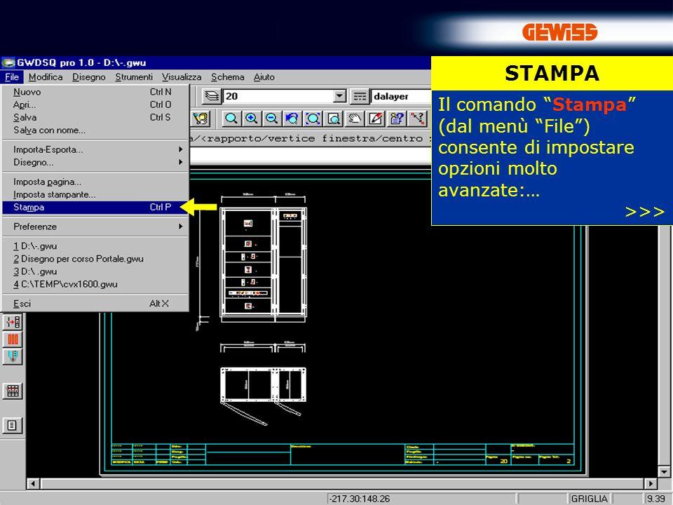 STAMPA Il comando Stampa (dal menù File ) consente di impostare opzioni molto avanzate:… >>>