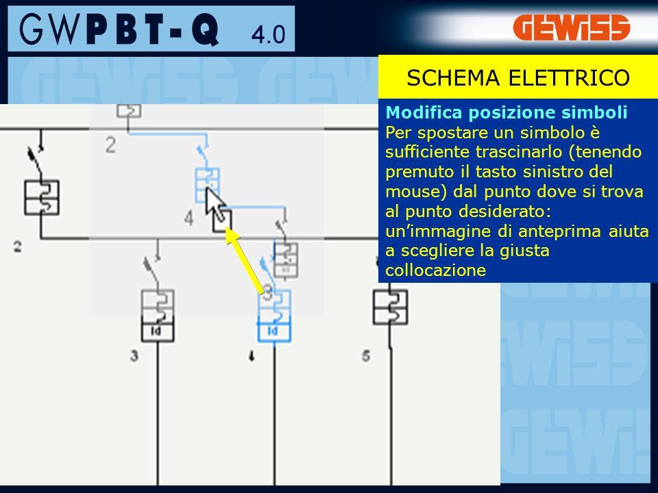 SCHEMA ELETTRICO Modifica posizione simboli