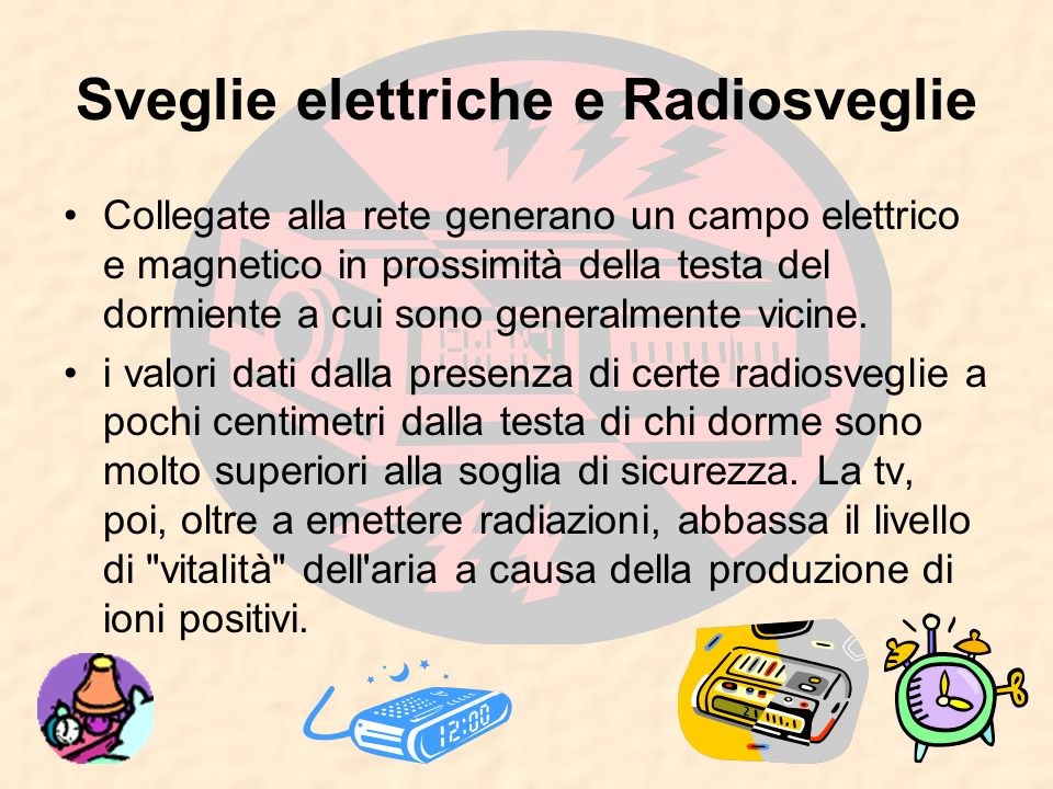 Sveglie elettriche e Radiosveglie